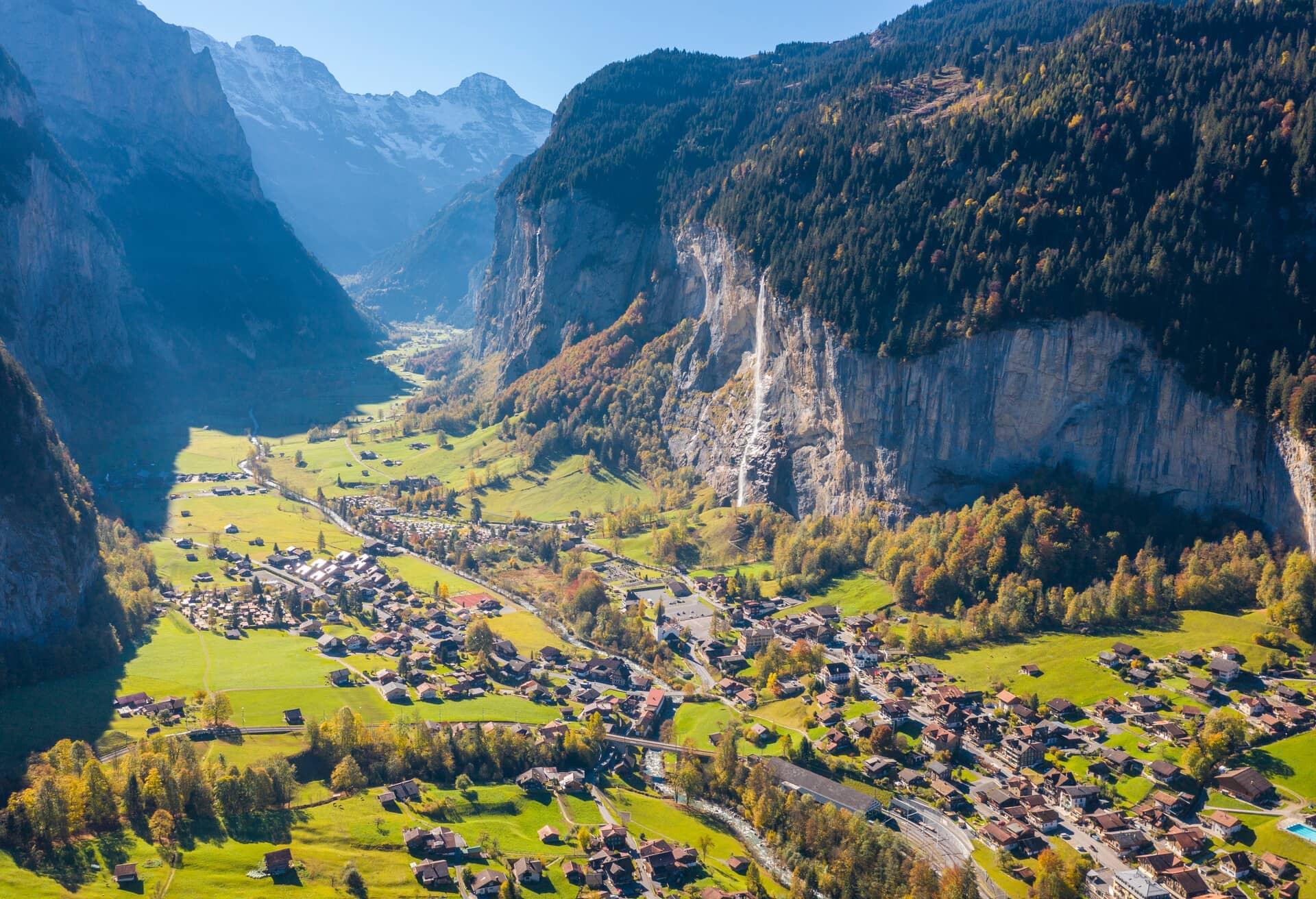 Beeindruckende Landschaft in der Schweiz.