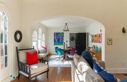 This Spanish style house is located in the historic Edgewater neighborhood.