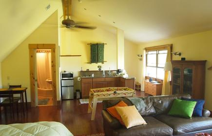 Large private studio apartment On Main Street