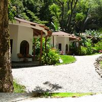 Manalá Hotel View of cabanas as you walk up towards the restaurant on the property