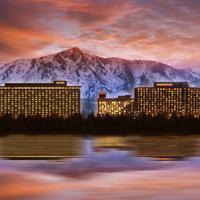 Harveys Lake Tahoe Hotel Front - Evening/Night