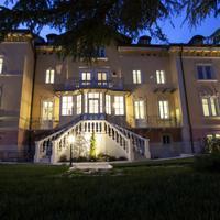 Villa Italia Hotel Front - Evening/Night