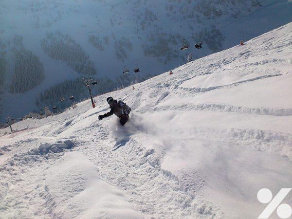 Snowboard fahren in Mayrhofen