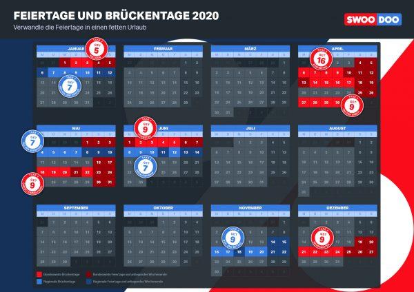Feiertage und Brückentage 2020